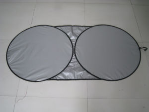 Nylon Front Sunshade with Two Circles Usf4059