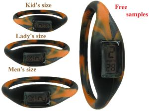 Fashion Wrist Watches With Tiger Colors Wristband (FW-202)