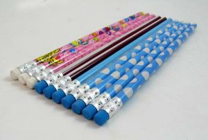 Wooden Pencil with Eraser, Hot Foil Pencils with Eraser pictures & photos