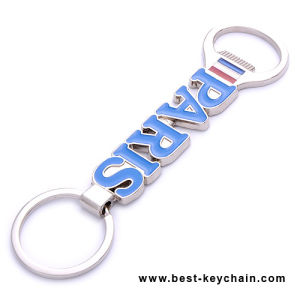Zinc Alloy Souvenir Metal Letter Bottle Opener Keychain (BS11413) pictures & photos