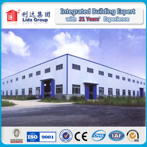Light Long Span Prefabricated Steel Structural Workshop with Fire Sandwich Roofing Panel pictures & photos