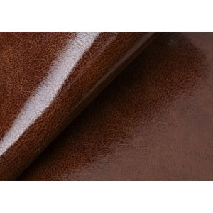 Brown Color Shinny Leathers for Shoes