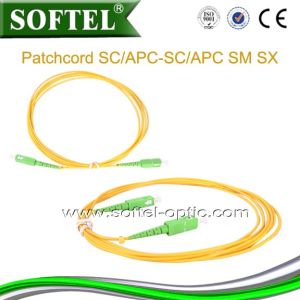 Sc/APC Optical Fiber Patch Cord pictures & photos