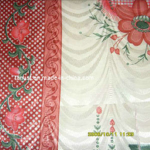 100% Polyester Satin Flower Jacquard Fabric