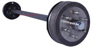 Electric Drum Braked Straight Axle Assembly