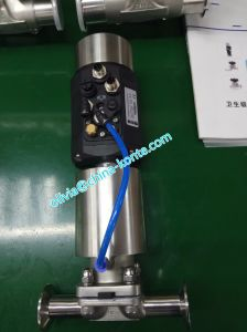 Ss316 Sanitary Pneumatic Diaphragm Valve Single Acting Normally Open pictures & photos