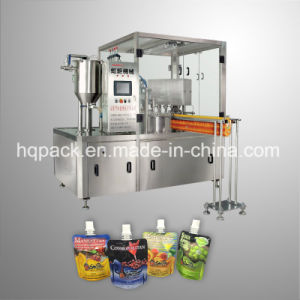 Liquid Beverage Filling and Capping Machine for Plastic Pouch pictures & photos