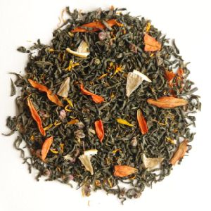 Green Tea with Lemon Fruit Flavor Aroma Tea pictures & photos