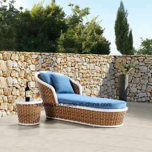 New Hotel Furniture Using Outdoor Garden Chaise Lounge with Side Table (YTF1050&YTE1050-1) pictures & photos