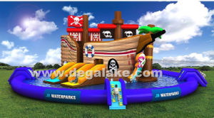 Inflatable Pirate Cove Boat Water Slide for Water Park