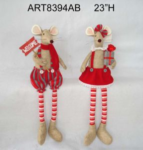Standing Christmas Plait Reindeer Decoration Gift pictures & photos