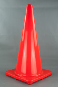 70cm PVC Traffic Cone Without Reflective Tape pictures & photos