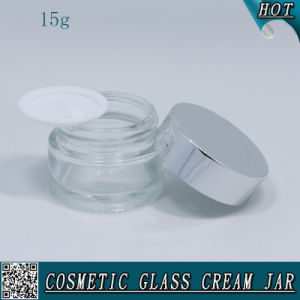 15ml 1/2 Oz Cosmetic Glass Jar for Face Cream with Aluminum Lid pictures & photos