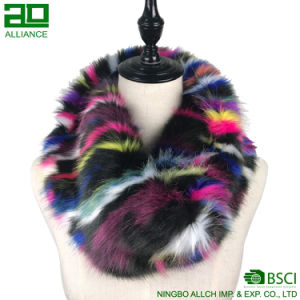 Colorful Plush Custom Faux Fur Infinity Scarf pictures & photos