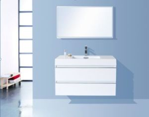 Resin Basin PVC Bathroom Cabinet (Glossy White) pictures & photos