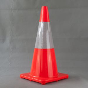 70cm PVC Cone with 25cm High Intensity Reflective Tape pictures & photos