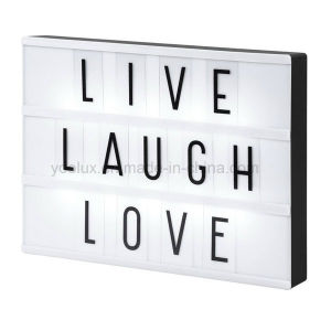 Free Combination Letters Photo Movie Cinema LED Light Box pictures & photos