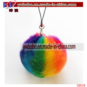 Promotional Keychain Strap Key Charm Artificial Fur Promotion Keychain (G8028) pictures & photos