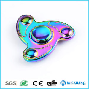 Color Rainbow Aluminum Metal Tri Hand Finger Spinner Fidget pictures & photos