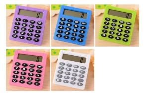 Portable Mini Calculator for Students, Office Stationery Square Calculator Promotion pictures & photos