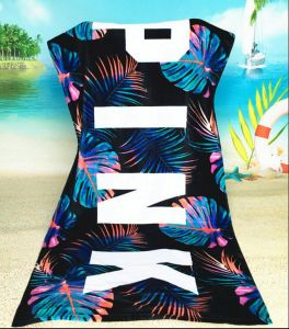 Custom Pattern 100% Cotton Yarn Dyed, Full Color Reactive Printed Beach Towel pictures & photos