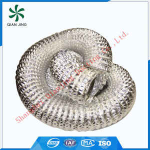 Fire Resistant Combi Glass Fabric Aluminum Flexible Duct for HVAC Systems pictures & photos