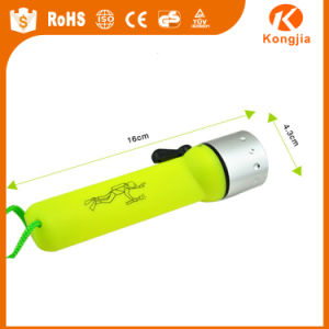 ABS LED Diving Flashlight 4*AA Dry Battery Diving Torch