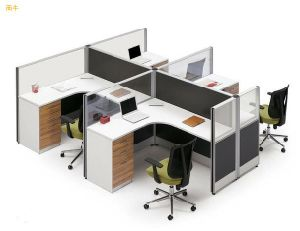 Modern Aluminum Glass Wooden Cubicle Workstation / Office Partition (NS-NW157) pictures & photos
