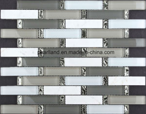 Marble Mix Glass Mosaic Tiles for Decoration pictures & photos