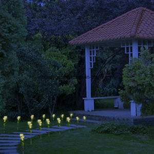 Solar Yellow Rose Flower Lights, Solar Powered Garden Outdoor Decorative Landscape LED Rose Lights Year-Round, Great Gift pictures & photos