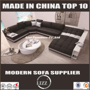 Italian Design Genuine Leather Sectional Bed for Villa Project pictures & photos