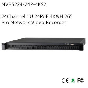24channel 1u 24poe 4k&H. 265 PRO Network Video Recorder (NVR5224-24P-4KS2)