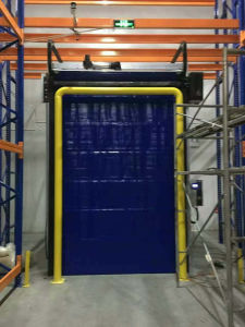 Insulated PVC Fabric High Speed Roll up Freezer Doors pictures & photos