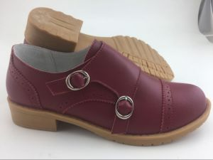 Latest Design Fashion Lady Leather Shoes British Style Shoes (FW-5) pictures & photos