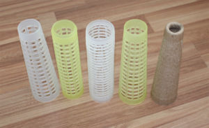 Polyester Yarns Cone with Paper / Plastic Material pictures & photos