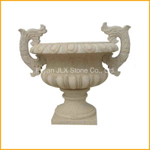 Yellow Granite Stone Marble Flower Planter pictures & photos