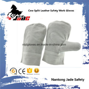 Cowhide Leather Mittens Industrial Safety Welding Work Glove pictures & photos