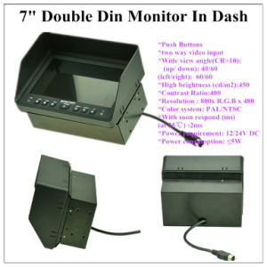 "7"" Double DIN Monitor with 4pin Connetor pictures & photos"