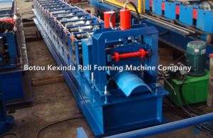 Galvanized Steel Roof Ridge Cap Cold Roll Forming Machine pictures & photos