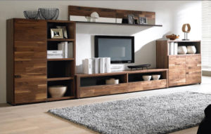 China Good Price Walnut Wood TV Stand for Home (WT-009)