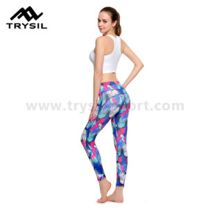 Full Length Women Tight Yoga Pants pictures & photos