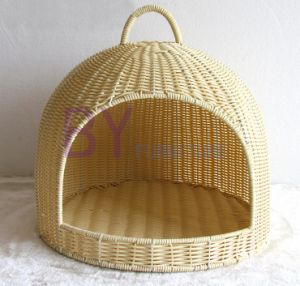 Hot Sale Hand-Weaving PE Rattan Doghouse Pet Waterloo pictures & photos
