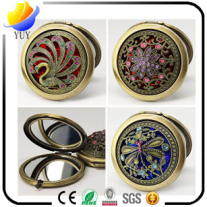 Beautiful Classical Style Fine Hollow out Setting Gems Makeup Mirror pictures & photos
