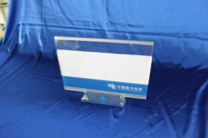 Customize Clear Desktop Acrylic Display Menu Stand pictures & photos