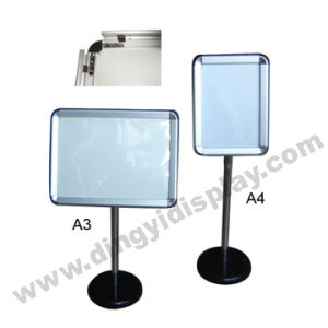 Adjustable Aluminum Frame Poster Stand/Sign Holder pictures & photos