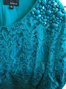 Lady′s Lace Dress, Zipper on The Back, Fashion Clothing pictures & photos
