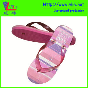 Double Colour Sole Flip Flops with Process Printing pictures & photos