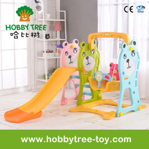 2017 Bear Style Plastic Kids Slide Swing Toys for Family (HBS17020A) pictures & photos