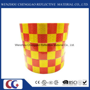 Red/Yellow Grid Design Reflective Conspicuity Tape (C3500-G) pictures & photos