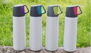 New Double Wall Stainless Steel Vacuum Flask with Handle pictures & photos